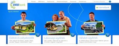 DRB Bank honlapja: pénzügyi szolgáltató internetes kommunikációja speciális biztonsági követelményekkel