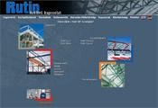 Rutin weboldal nyitóoldalának designja